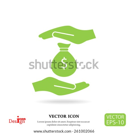 insurance money vector icon - stock vector