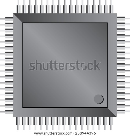 Integrated circuit/processor isolated vector art