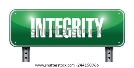 integrity street sign illustration design over a white background - stock vector