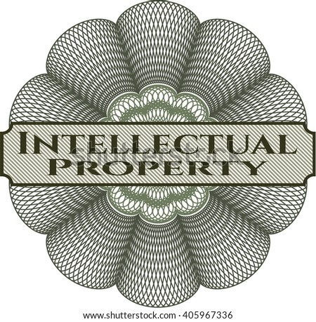 Intellectual property rosette - stock vector