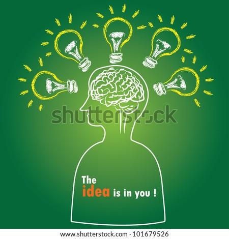 Intelligence,Brain,Vector - stock vector