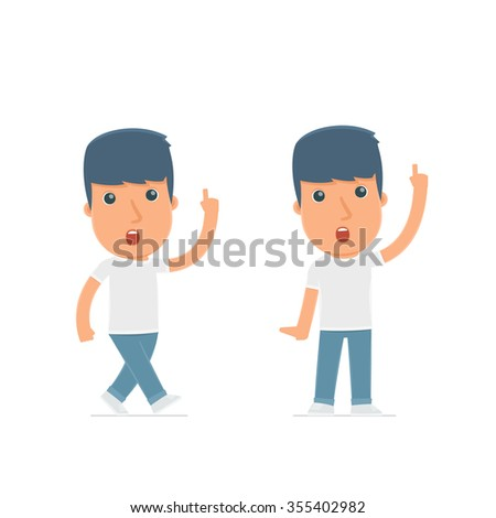 Intelligent and Clever Character Activist visited great idea. for use in presentations, etc. - stock vector