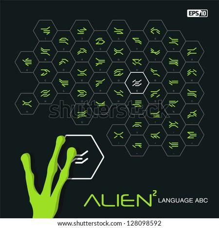 Intelligent extraterrestrial alien characters - stock vector