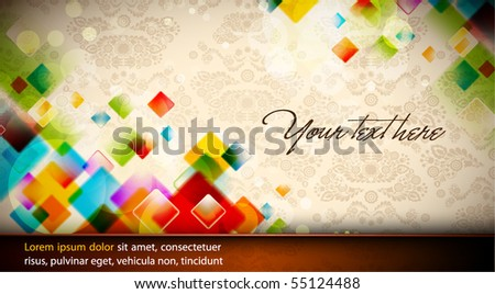 Intensive Colors - Abstract EPS10 Vector Design | Seamless Flourish in Background - stock vector