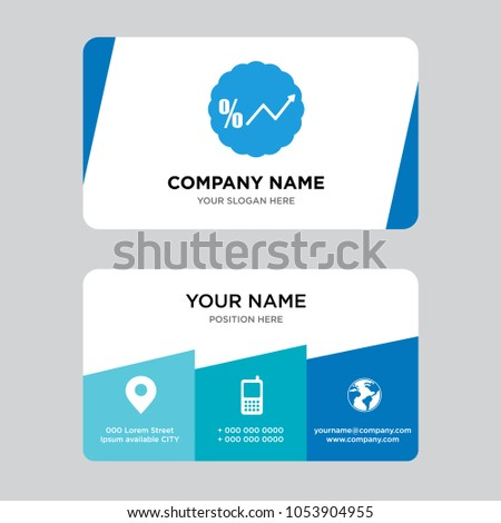 Interest rate business card design template stock vector 1053904955 interest rate business card design template visiting for your company modern creative and clean reheart Images