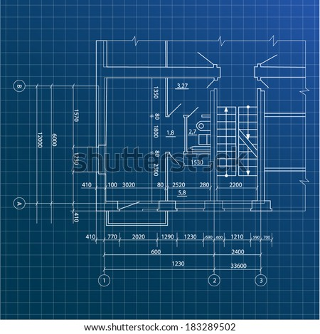 Interesting architectural background in unique style - stock vector