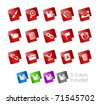 Interface Icons // Stickers Series -------It includes 5 color versions for each icon in different layers --------- - stock vector