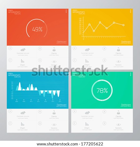 Interface Template-Modern Concept For Internet Web. Flat design. Vector - stock vector