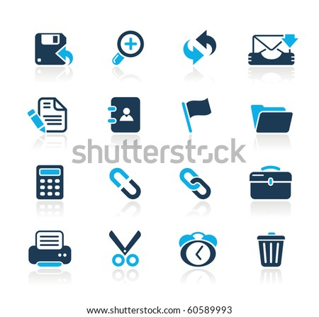 Interface Web Icons// Azure Series - stock vector