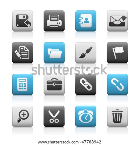 Interface Web Icons // Matte Series - stock vector