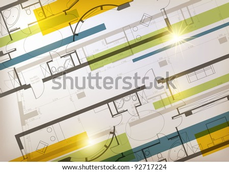 Interior background - stock vector