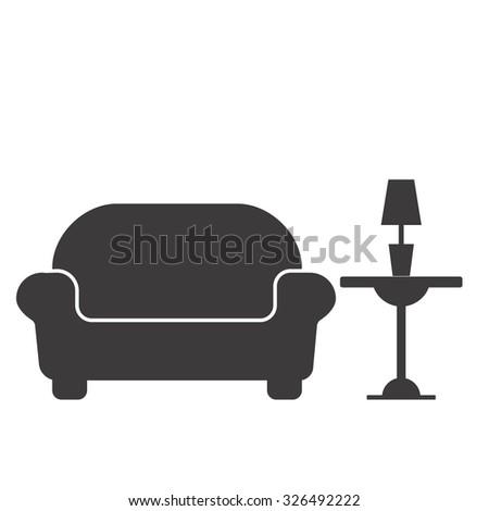 Interior Design Icon Stock Vector 324233279