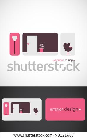 Interior design icon such logo, Vector EPS10. - stock vector