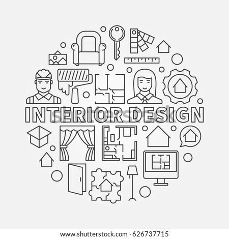 Interior Design Illustration Vector Concept Architecture Stock