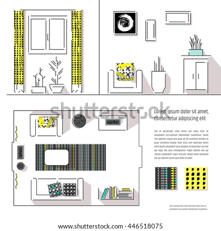 Interior Design Magazine Page Layout Web Site Template Includes Two Views Floor