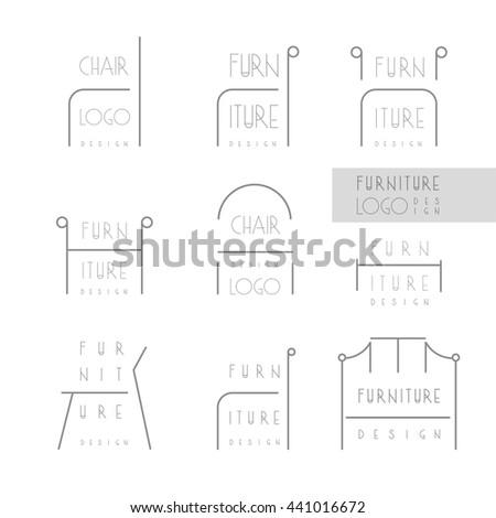 Interior Designer Brand Identity Chair Line Stock Vector 441311506 Shutterstock