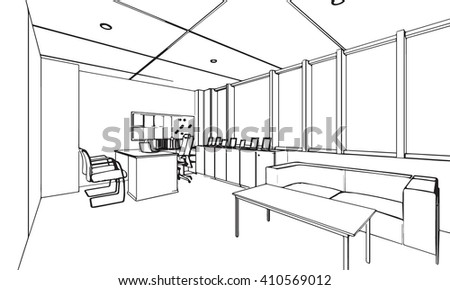 Interior Design Office Sketches office sketch stock images, royalty-free images & vectors