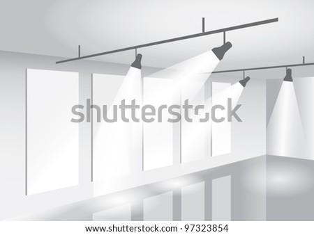 Interior showroom - stock vector