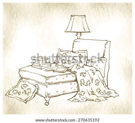 Interior vector sketch - stock vector