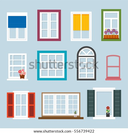 Window stock images royalty free images vectors for Window design cartoon