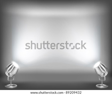 Interior with empty wall. Vector illustration. - stock vector