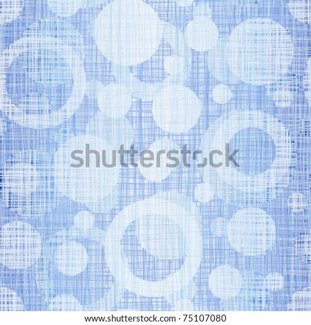 Interlacing a blue jeans fabric with drawing circles - stock vector