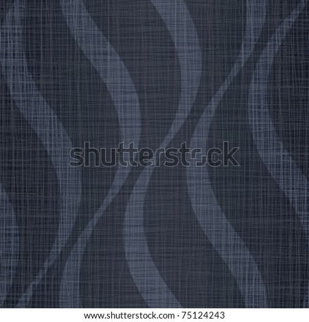 Interlacing darkly dark blue jeans fabric with wavy drawing - stock vector