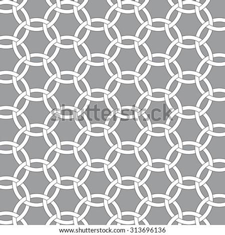 interlocking circles - stock vector