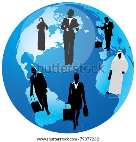 International Business - stock vector