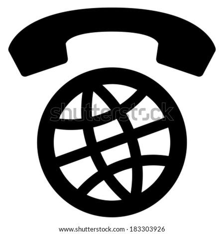 International calls worldwide vector icon - stock vector