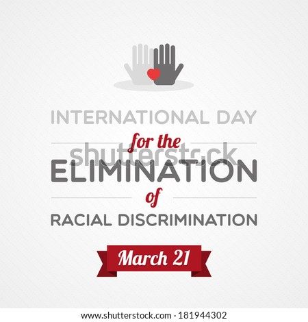 International Day for the Elimination of Racial Discrimination - stock vector