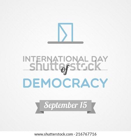 International Day of Democracy - stock vector