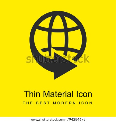 International Delivery Business Symbol World Grid Stock Vector