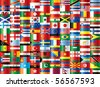 International flags vector. 130 flags. - stock vector