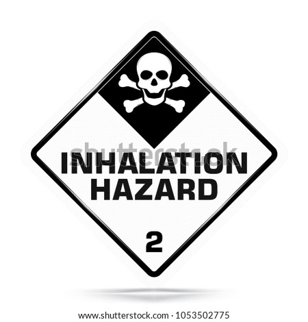 International Inhalation Hazard Class 2 Symbol White Stock Vector
