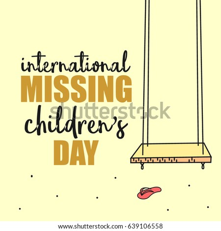 International Missing Childrens Day Suitable Banner Stock Vector ...