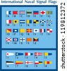 International Naval Signal Flags - stock