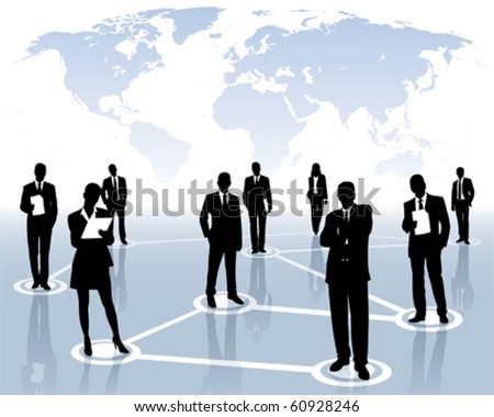 international network - stock vector