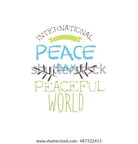 International Peace Day Label Designs Pastel Stock Vector 487332415 ...