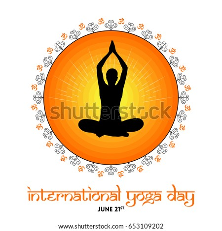 International Yoga Day Vector Illustration Banner Brochure And Poster Design June 21st Celebrates World