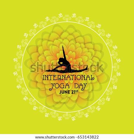 International Yoga Day Vector Illustration Banner Brochure And Poster Design June 21st Celebrates World