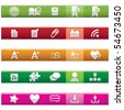 Internet and Blogs Icon Set - stock vector