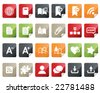 Internet and Blogs Icon Set. Tag and Label Style - stock vector