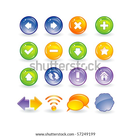 Internet and web buttons - stock vector