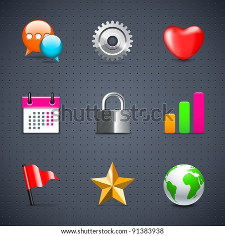 Internet and web icons - stock vector