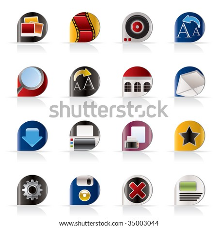 Internet and Website Icons - Vector Icon Set - stock vector