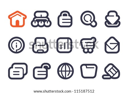 Internet App Icons - stock vector
