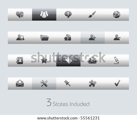 Internet & Blog // Classic Series +++ It includes 3 buttons states in different layers. +++ - stock vector