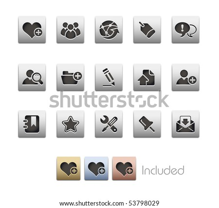 Internet & Blog // Metallic Series - It includes 4 color versions for each icon in a different layer. - stock vector