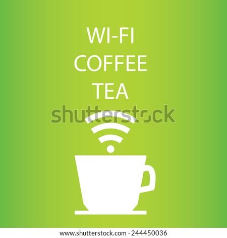 Internet cafe poster design, vector illustration - stock vector